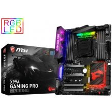 Emaplaat MSI X99A GAMING PRO CARBON, X99...