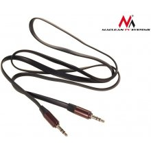 Maclean 3.5mm jack cable, flat 2m, metal...