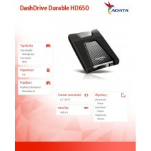 Kõvaketas ADATA väline HDD Durable HD650...