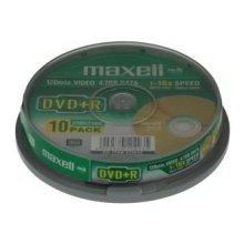 Toorikud Maxell ketas DVD+R 4,7 16x cake 10