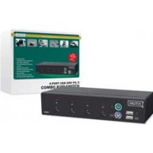 DIGITUS USB-PS/2 Combo-KVM Switch,4PCs