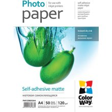 ColorWay Matte self-adhesive foto Paper, 50...