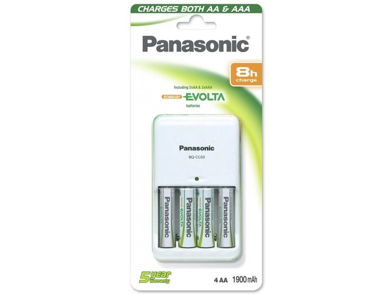 89d13bdef78 Panasonic Batteries Panasonic battery charger BQ-CC03 + 4×1900 BQ ...