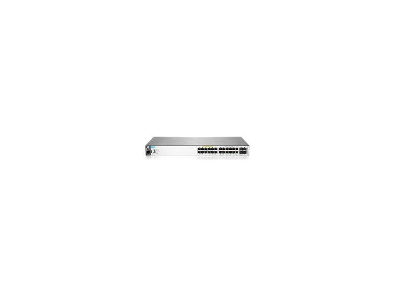 HEWLETT PACKARD ENTERPRISE HP 2530-24G-PoE+ BladeSystem, 28, 24, 28,  10/100/1000 Mbps, SFP, LLDP, SNMP, LLDP-MED, SNMPv1/v2c/v3, Black, 19U