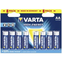 VARTA 1x8 High Energy Mignon AA LR 6