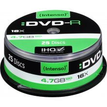 Toorikud INTENSO 1x25 DVD-R 4,7GB 16x Speed...