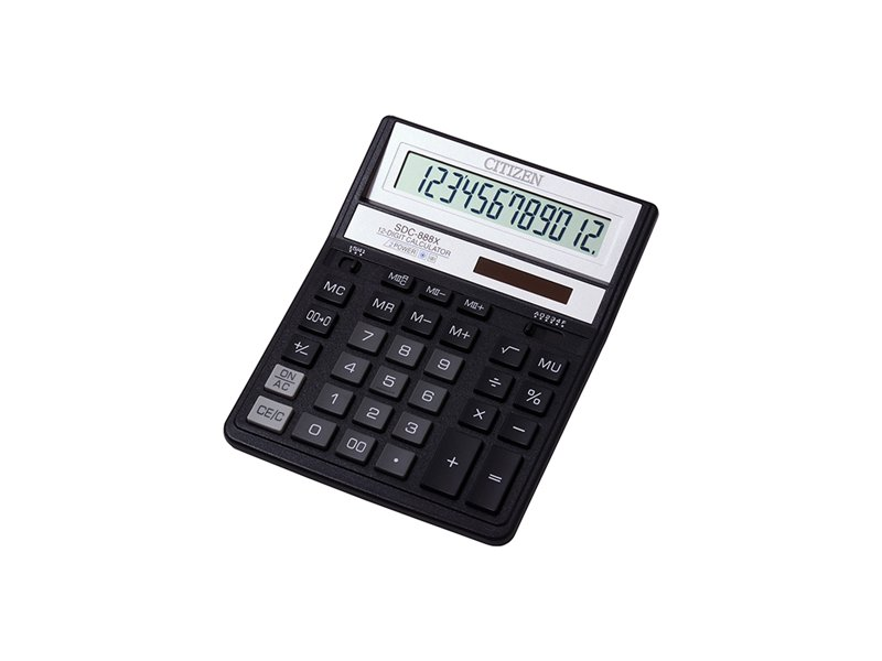 CITIZEN Calculator SDC 888XBK. Product images are for illustrative purposes only