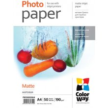 ColorWay Matte фото Paper, 50 sheets, A4...