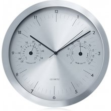 Maclean Wall clock 14' 35cm CE30S hõbedane...