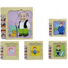 Brimarex Wooden puzzle w ith characters Man
