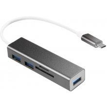 LogiLink USB-C 3-port HUB mit Kartenleser