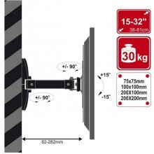 "4World Wall Mount for LCD 15-32"" tilt/swivel..."