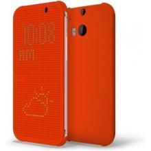 HTC One M8 Dot Flip kaaned, оранжевый