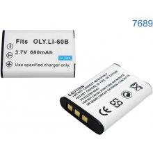 Qoltec батарея для Olympus, 60B 680 mAh 3.7V...