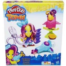 HASBRO PlayDoh Town, Fryzjer i papuga