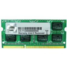 Mälu G.Skill SO DDR3 4GB PC 1600 CL9 4GBSQ...