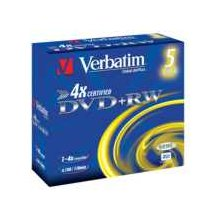 Диски Verbatim 1x5 DVD+RW 4,7GB 4x Speed...