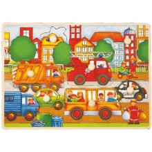 Brimarex Wooden puzzle koos thumbtacks -...