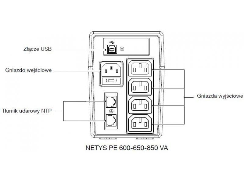ups socomec netys pe 850v  230v480w  avr  4xiec 320  led  usb