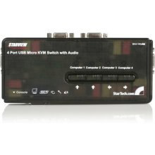 StarTech.com 4 Port Black USB KVM Switch Kit...