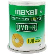 Diskid Maxell ketas DVD-R 4,7 16x cake 100