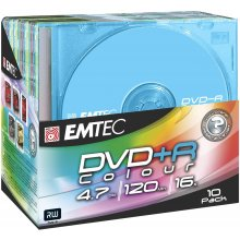 Диски EMTEC DVD+R 4,7GB 10pcs 16x Slim...