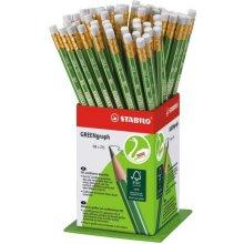 Stabilo Harilik pliiats roheline kummiga hb