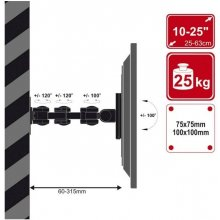 "4World Wall Mount для LCD 10-32"" VESA 75/100..."