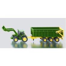 SIKU John Deere Tractor с Trailer и зарядное...