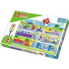 TREFL Puzzle Baby 15 pcs Maxi - City...