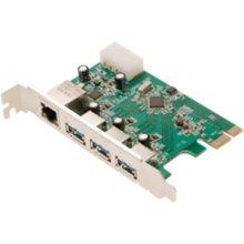 LogiLink 3x USB 3.0 ja 1x Gigabit LAN PCIe