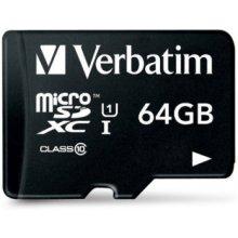 Mälukaart Verbatim microSDXC Karte 64GB