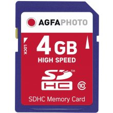 Флешка AGFAPHOTO SDHC Card 4GB High Speed...