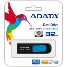 Флешка ADATA DashDrive UV128 32GB чёрный...