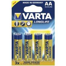 VARTA 1x4 Longlife Extra Mignon AA LR 6