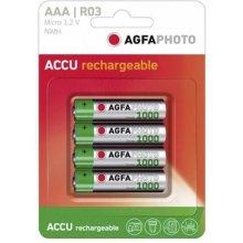 AGFAPHOTO 1x4 Akku NiMh Micro AAA 900 mAh