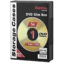Диски Hama Slim DVD Jewel Case pack of 5...