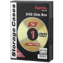 Diskid Hama Slim DVD Jewel Case pack of 5...