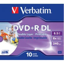 Diskid Verbatim DVD+R DL 8.5GB 8X Inkjet...