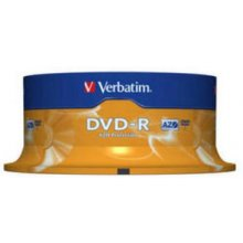Диски Verbatim 1x25 DVD-R 4,7GB 16x Speed...