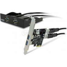Unitek PANEL 3.5, 4x USB3.0 z kontr. PCI-E;...