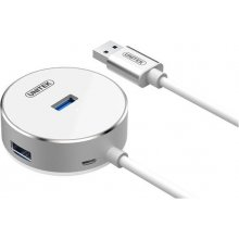 Unitek Hub 4x USB 3.0 alumiinium; Y-3197WH