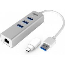 Unitek Hub 3x USB 3.0. + Gigabit + USB...
