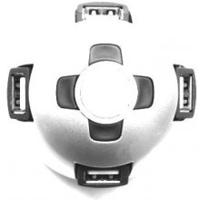 Gembird semi-sphere USB 2.0 4-port HUB koos...