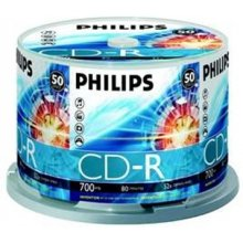 Диски Philips CD-R 700MB 50pcs Spindel 52x