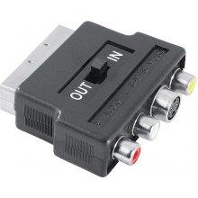 Hama адаптер Scart-3RCA/SVide