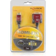 Delock HDMI адаптер A -> C + D Bu/St/St 2in1...