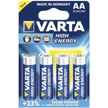 VARTA 1x4 High Energy Mignon AA LR 6