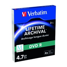 Диски Verbatim M-диск 4.7GB 3pcs DVD 4x...