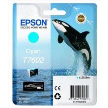 Тонер Epson T7602 чернила Cartridge, голубой